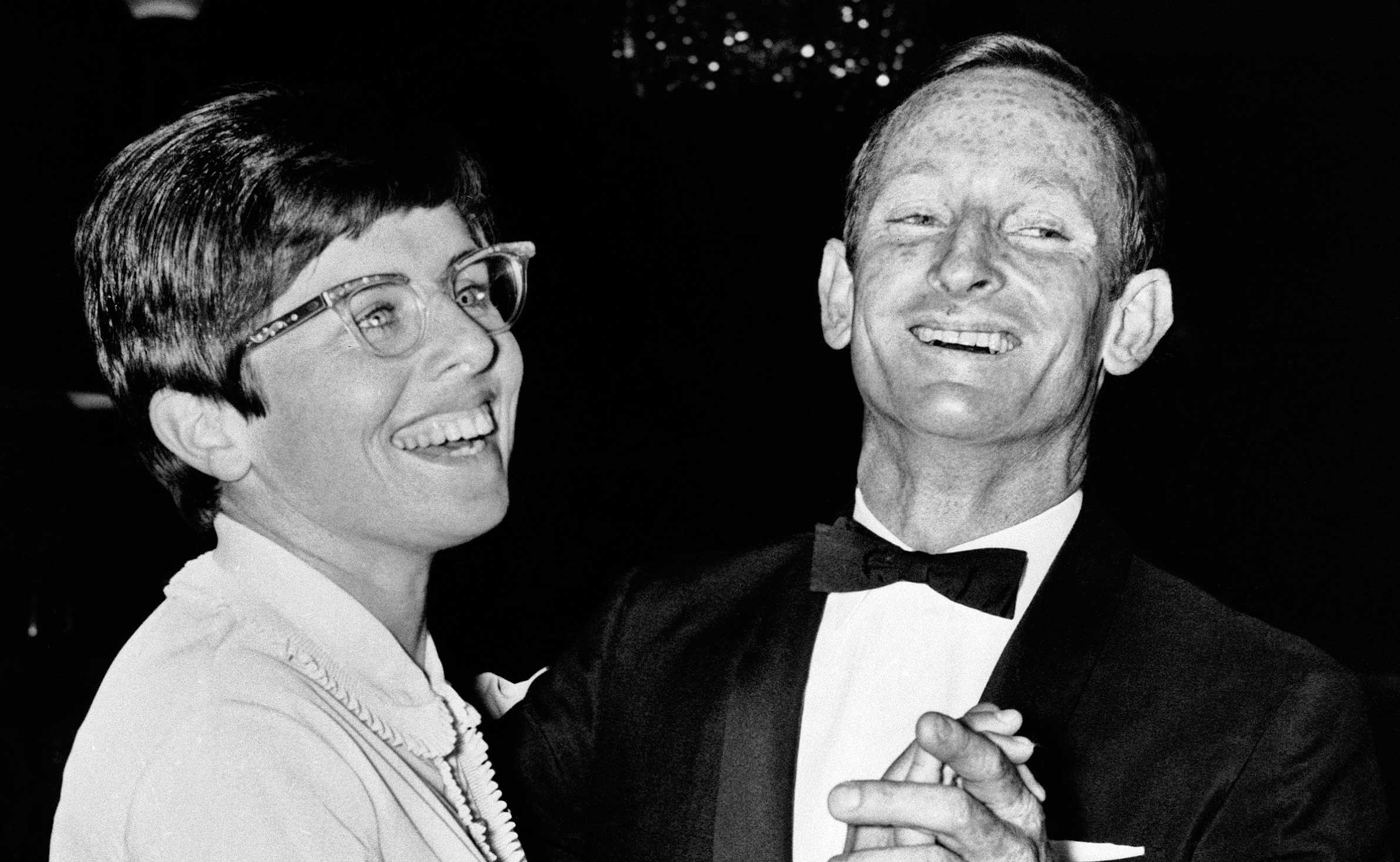 Rod Laver and Billie Jean King, Wimbledon 1968