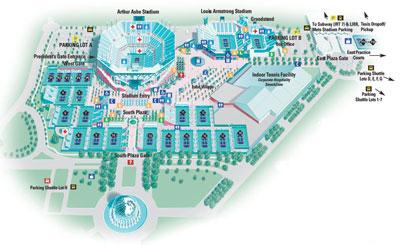 Map Us Open Tennis